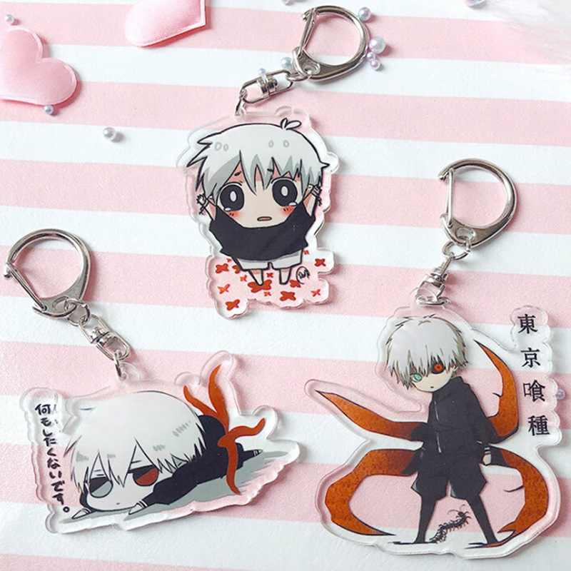 Ghoul Keychain Double Sided Acrylic Key Chain Pendant Anime Accessories Cartoon Key Ring PVC Keychain