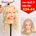 """Wholesale 80% Human Hair Mannequin Head 22"""" Blonde Great Quality Natural Hair Hairdressing Dolls Head For Beauty Salon"""