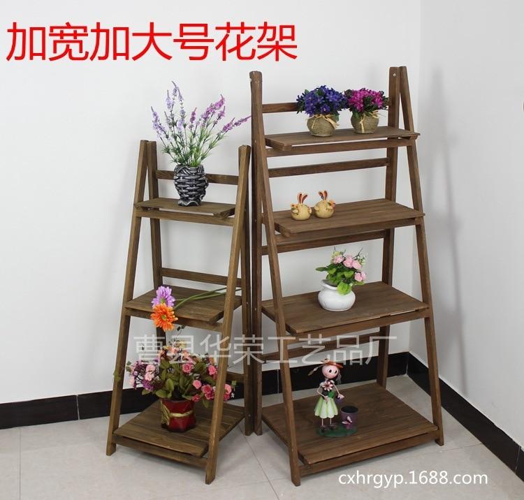 Negara amerika untuk melakukan tua retro antik bunga rak tangga kayu lipat ra - Echelle decorative pour plantes ...