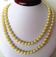 FREE SHIPPING HOT! Fashion 8mm ocean shell pearls necklace 32''RTY4190