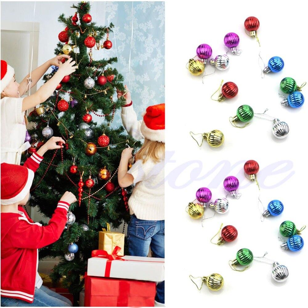 Pcs cm christmas tree balls decorations baubles party