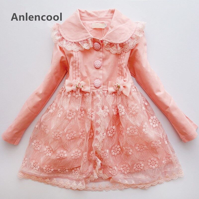 Anlencool new girls coat in the spring and autumn big boy long sleeved jacket windbreaker in Korean Princess chidren clothing