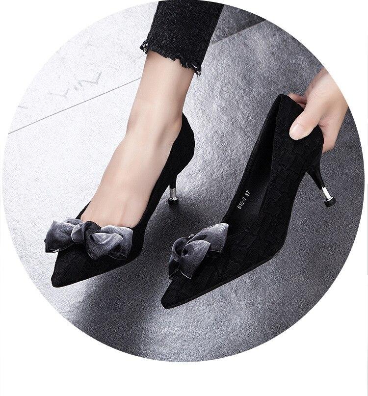 2019 جديد وصول النساء مضخات وأشار اصبع القدم السيدات عالية الكعب الزفاف-في أحذية نسائية من أحذية على  مجموعة 1