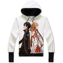 Sword Art Online Kirito Cosplay Asuna Yuuki Costume Anime Hoodie Adult Teens