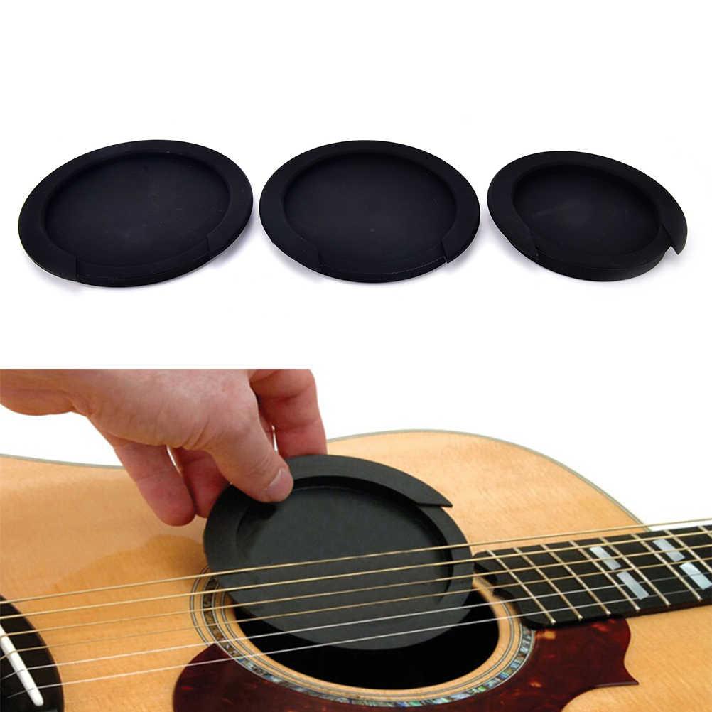 3 أحجام سيليكون الصوتية الكلاسيكية الغيتار ردود الفعل المغفل الصوت ثقب غطاء عازلة كتلة وقف المكونات الغيتار أجزاء والاكسسوارات
