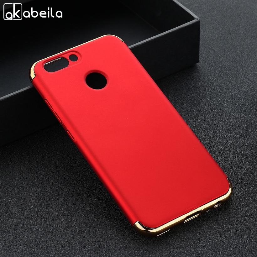AKABEILA Plating Plastic Case For Huawei Nova 2 PIC-AL00 Nova2 5.0 Inch Covers Matte Phone Bags Plating Back Shell Skin Housing