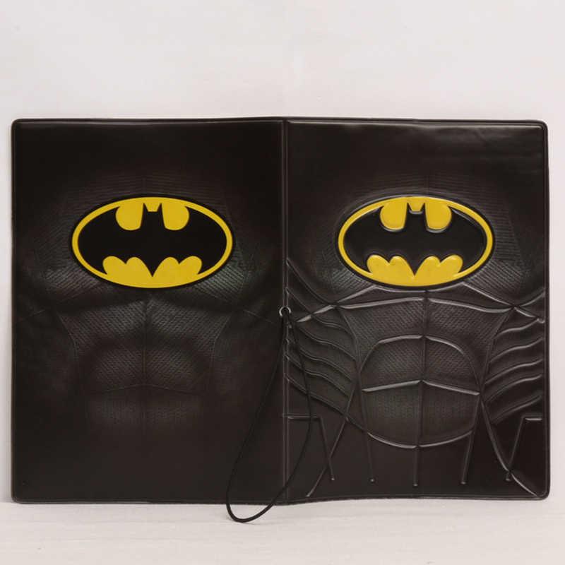 Moda Batman Pasaport Kapağı cüzdan çanta Seyahat Aksesuarları Sevimli Kadın PU Deri KIMLIK Adres Tutucu Taşınabilir Yatılı Kart Kapak