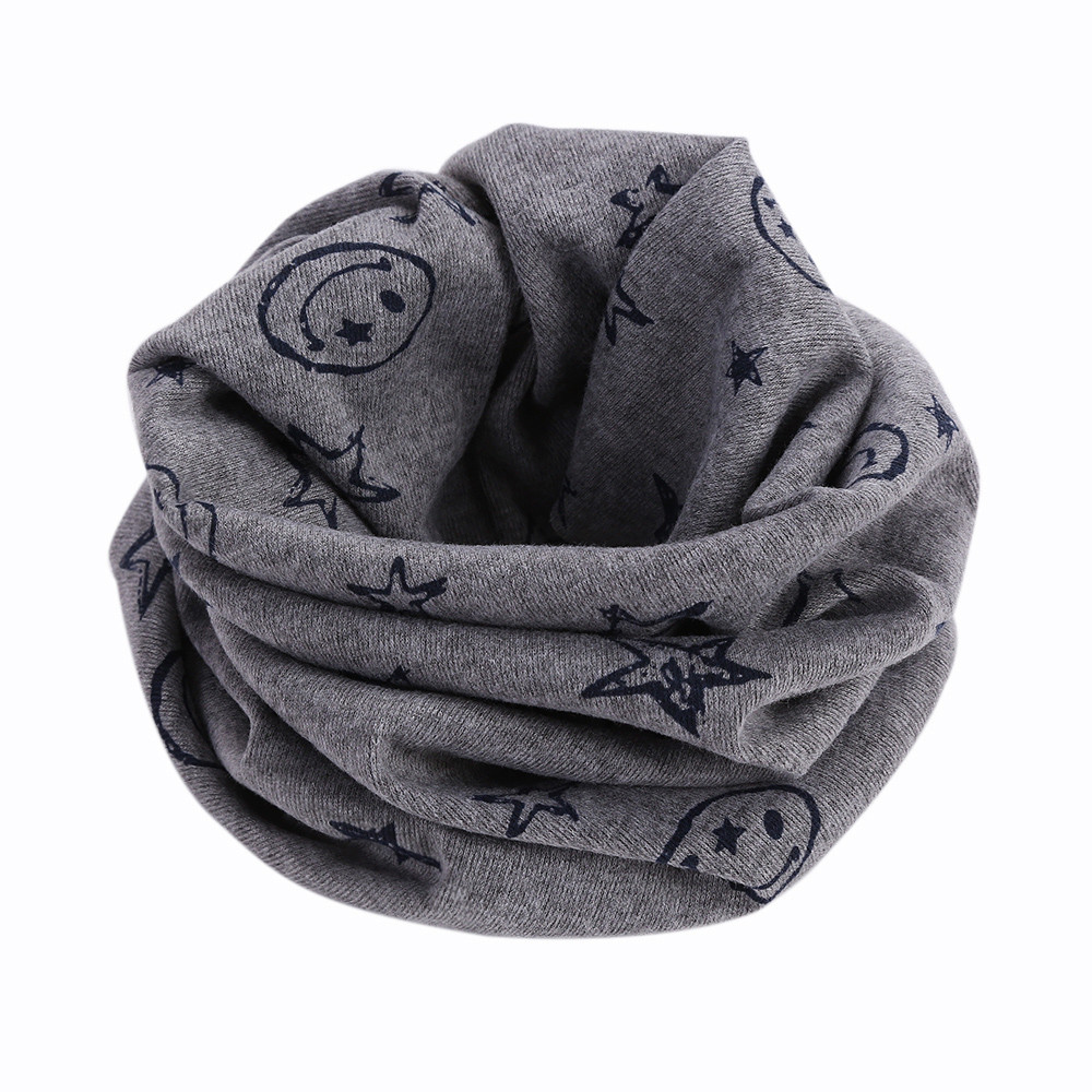 TELOTUNY New Multicolor Children Warm Cotton Scarf Boy Girl Scarf Shawl Winter Neckerchief For 3-5 year old children wear F804