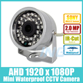Mini Waterproof HD 1920 x 1080P 2.0MP AHD CCTV Camera Sony IMX322 30LED IR Security Camera Night Vision Outdoor Cam w/ IR-Cut