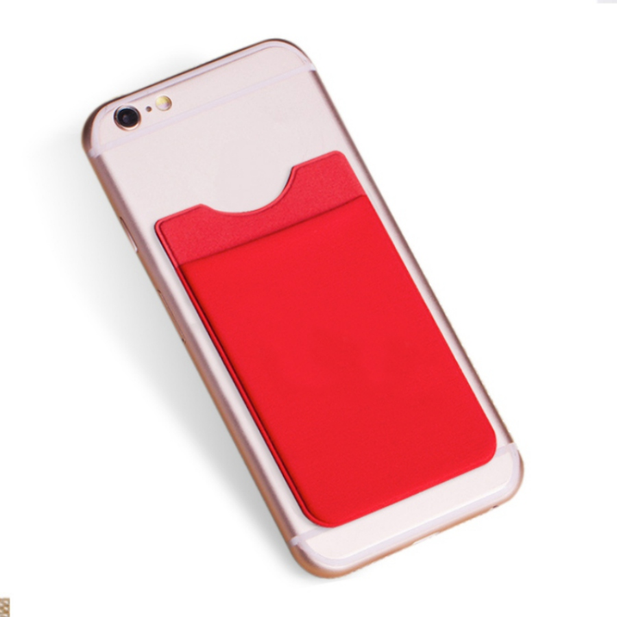 Women Elastic Lycra Adhesive Card Holder For Cell Phone ID Credit Card Holder Sticker Pocket ...