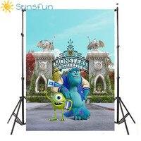 Sunsfun 7x5FT Monsters University Castle Blue Sky Cartoon Custom Photo Studio Backdrop Background Vinyl 220cm X