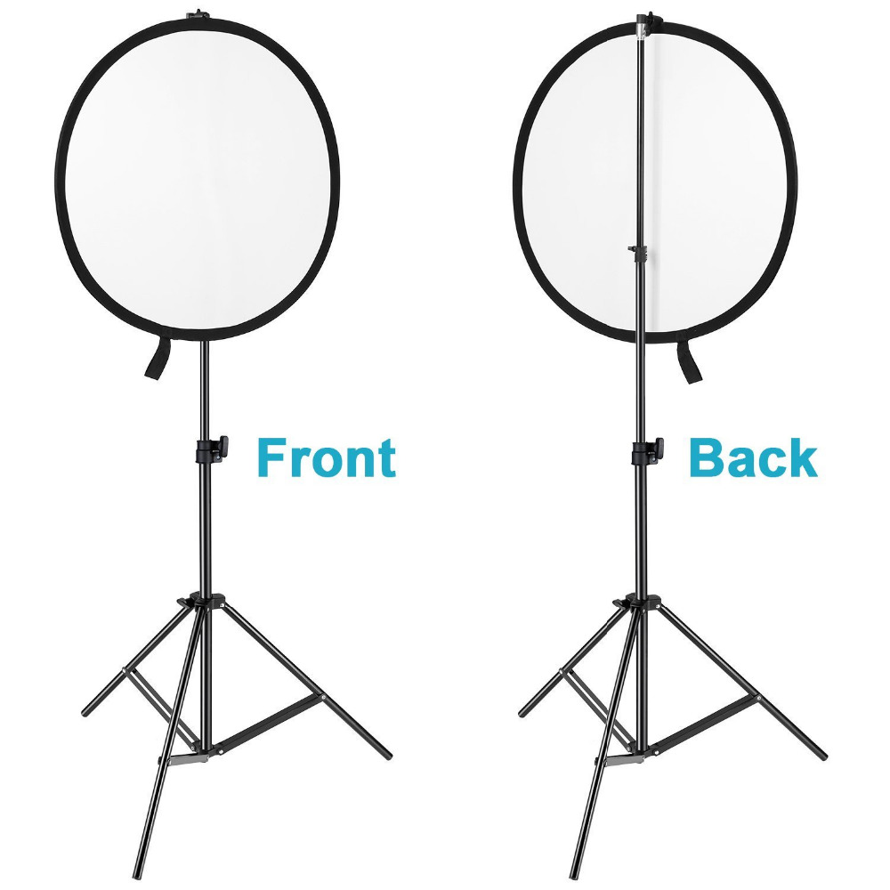 Neewer 4 Pieces Portable Studio Photography Background and Reflector Disc Holder Clip