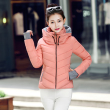 2017 New Fashion Winter Jacket Women Snow Wear Wadded Female Winter Jackets Slim Short Cotton Jacket