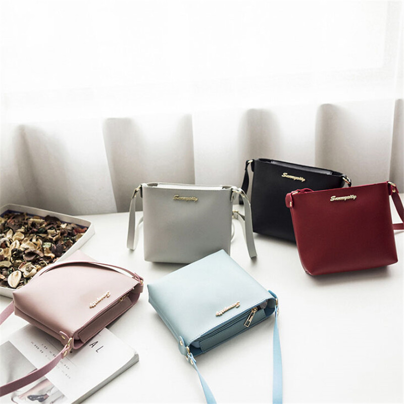 New Fashion For Women Solid Zipper Shoulder Bag Crossbody Bag Messenger Phone Coin Bag Small korean Style Handbags Free Shipping
