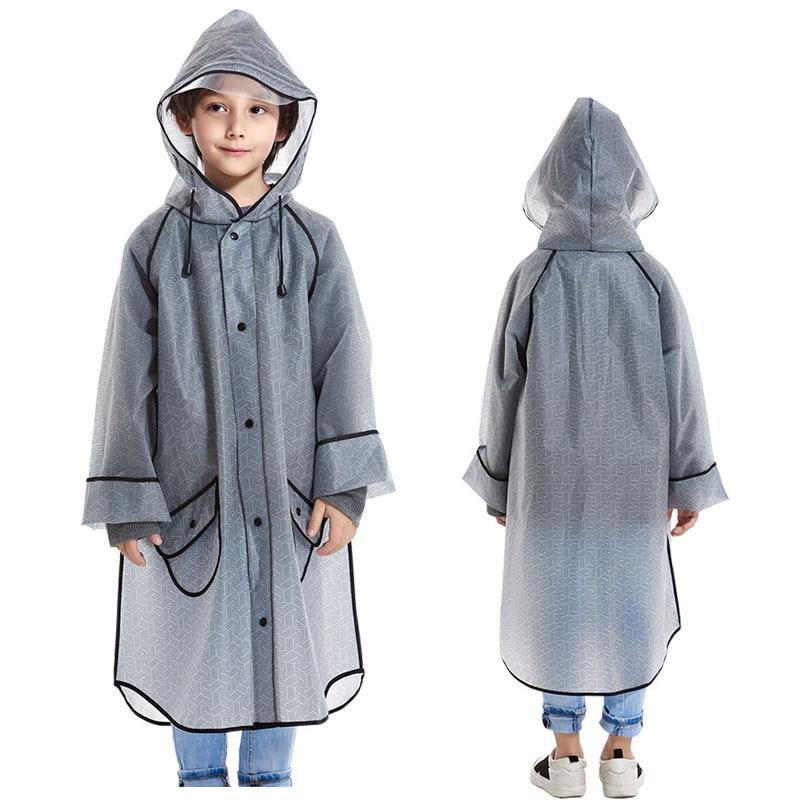 Yuding Children Raincoat Poncho Waterproof Geometric Travel-Fashion Kids for 110-150cm
