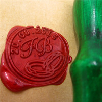 Ring Design Double Initial Customize Your Logo Name Box Set Personalized Letter Sealing Wax Wedding Wax