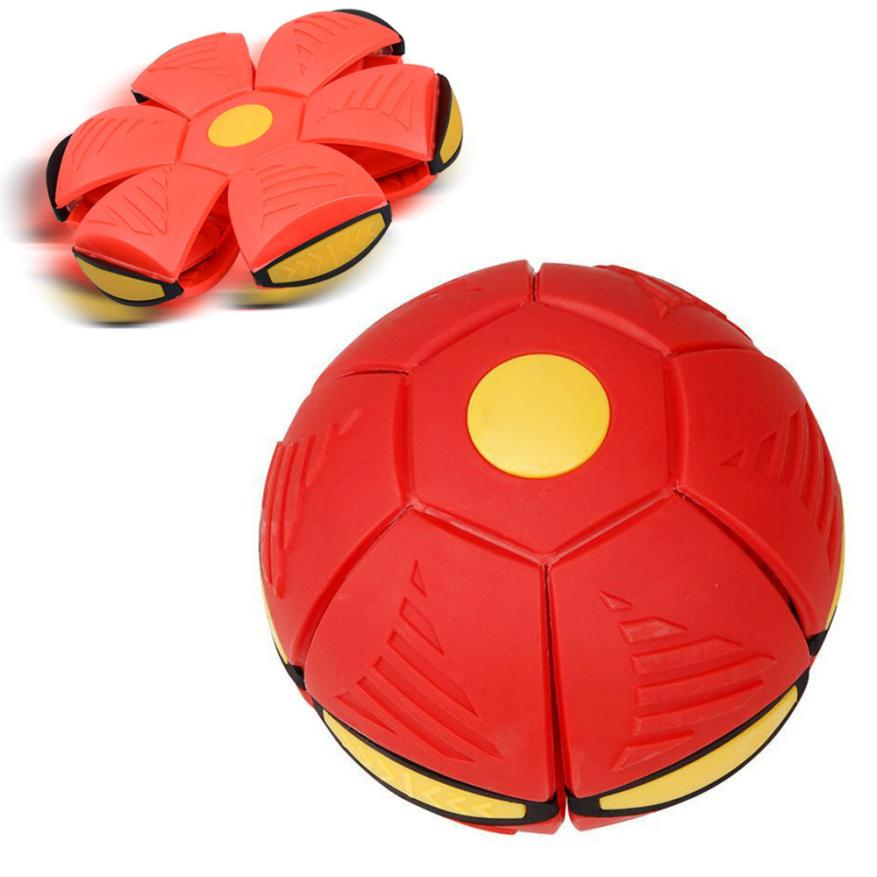 Toy Balls 2017 Outdoor toys for children UFO Deformation Ball Soccer Magic Flying Football Flat Throw Ball Toy Game D40+
