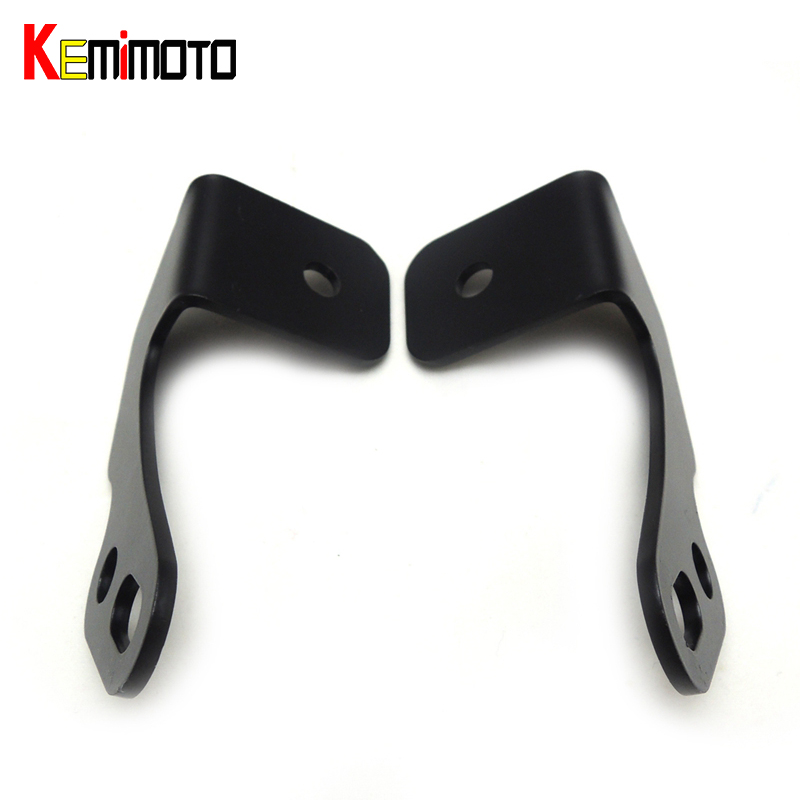 KEMiMOTO for POLARIS RZR XP1000 XC 900 RZR XP 1000 RZR-S 2PCS Lower Roll Bar Light Bracket LED Cube for Can Am Commander