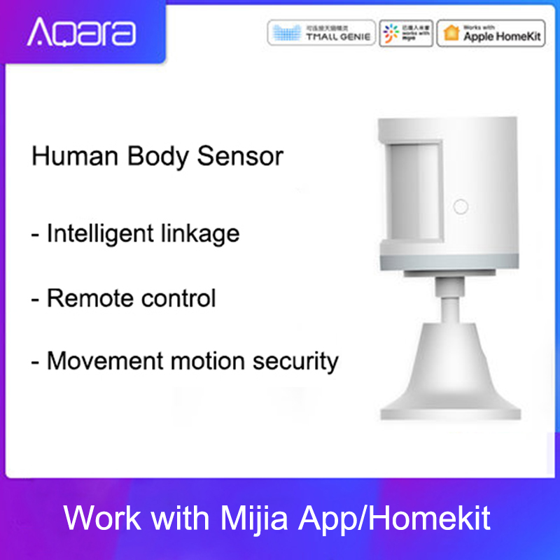100% Aqara Human Body Sensor ZigBee Movement Motion Security Wireless Connection Light Intensity Gateway 2 Mi home APP|Building Automation| |  -