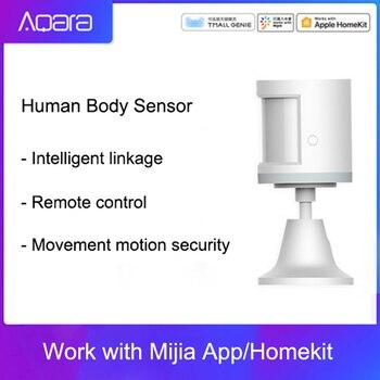 Sensor de movimiento 100% Aqara ZigBee, Sensor de cuerpo humano, conexión inalámbrica de seguridad con movimiento, entrada de luz de intensidad 2 Mi, aplicación para hogares