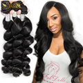 Brazilian Virgin Hair Loose Wave 4pcs Curly Weave Human Hair Extension 7A Mink Brazilian Hair Weave Bundles Queen Hair Products