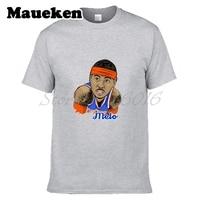 Men S Melo Royal 7 Carmelo Anthony T Shirt Tees Short Sleeve T SHIRT 100 Cotton