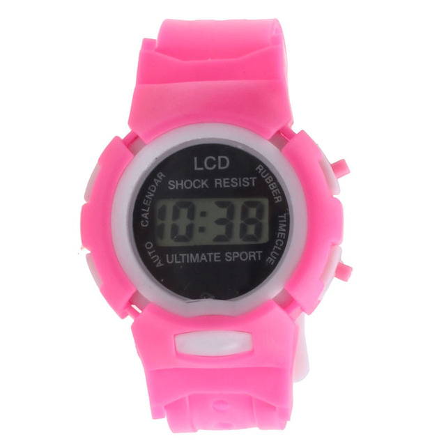 Watches Children Unisex Silicone Colorful Boys Girls Students Time Clock Electro
