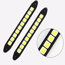2pcs 20W Automotive LED bendable Daytime Running Light Waterproof COB Strip Lamp Suitable For Foggy Days