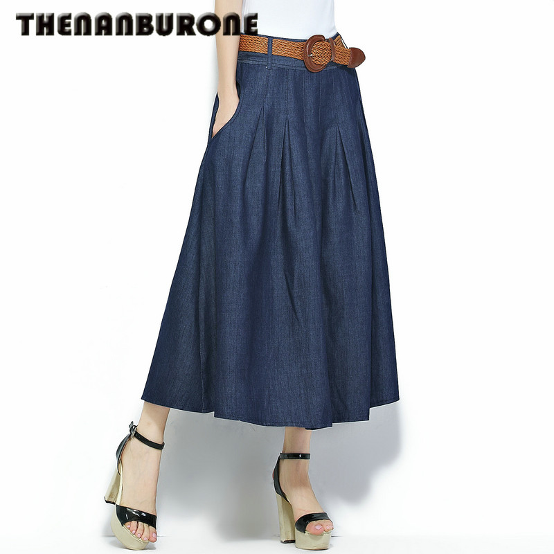 Popular Long Jean Skirts Women-Buy Cheap Long Jean Skirts Women ...