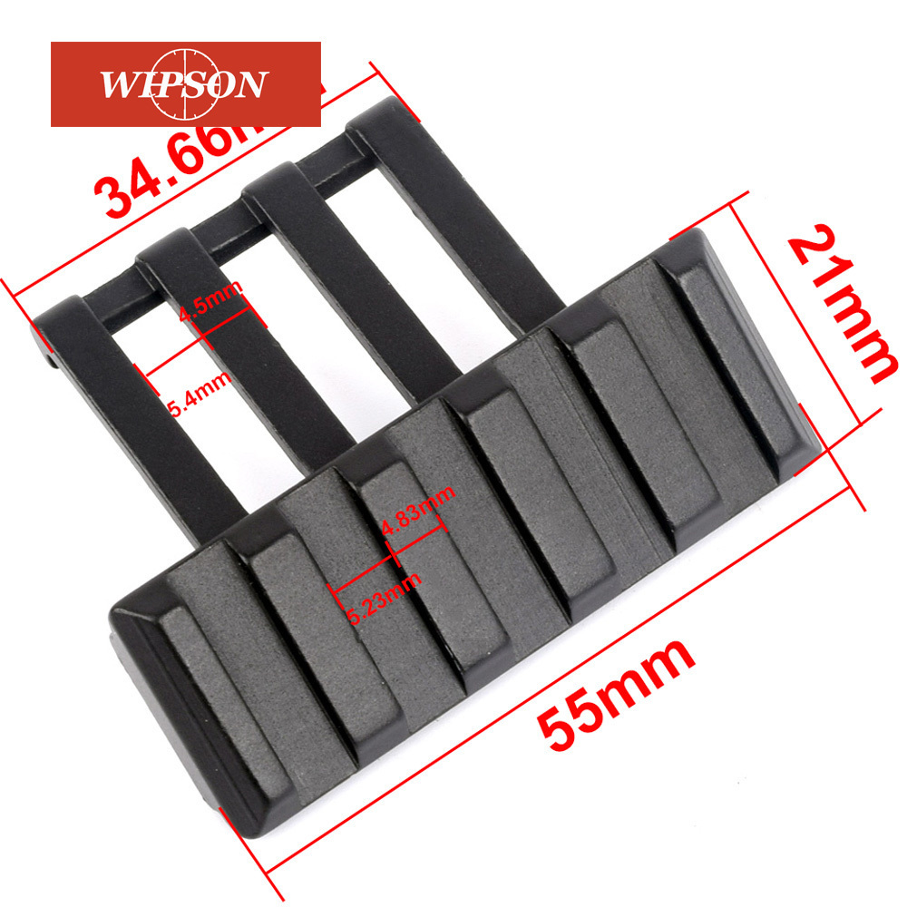 WIPSON Hunting 45 Degree Offset Weaver Rail Mount Quick Release For Flashlight Sight Riflescope