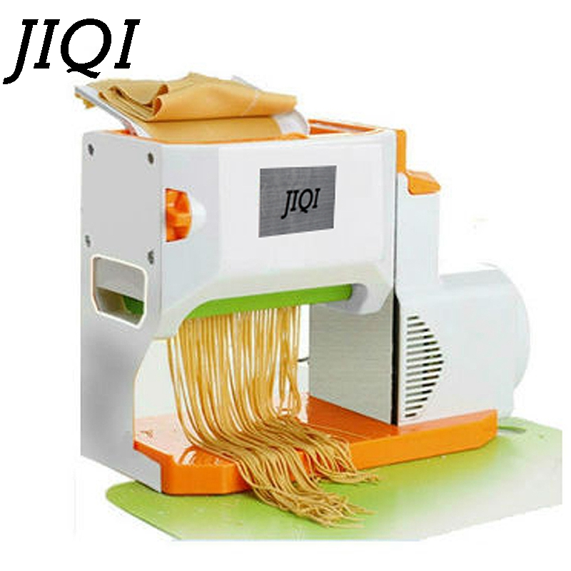 JIQI Household electric noddles pressing machine commercial stainless steel automatic manual pasta noddle dough dumpling maker 1pc household mini pasta machine manual metal spaetzle makers pressing machine pole head mingled split noodle tools