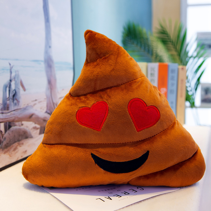 Cilected Cute Smiley Poop Emoji Pillow Living Room Bedroom Cushion Plush Toy Car Seat Home Decoration 35Cm/45Cm/55Cm 1Pc