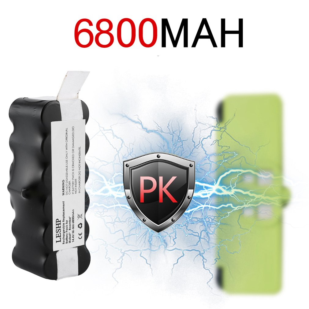 14.4V 6800mAh Battery Capacity NI MH Battery for iRobot Roomba Vacuum Cleaner 500 600 700 800 Series Drop Shipping High Quality