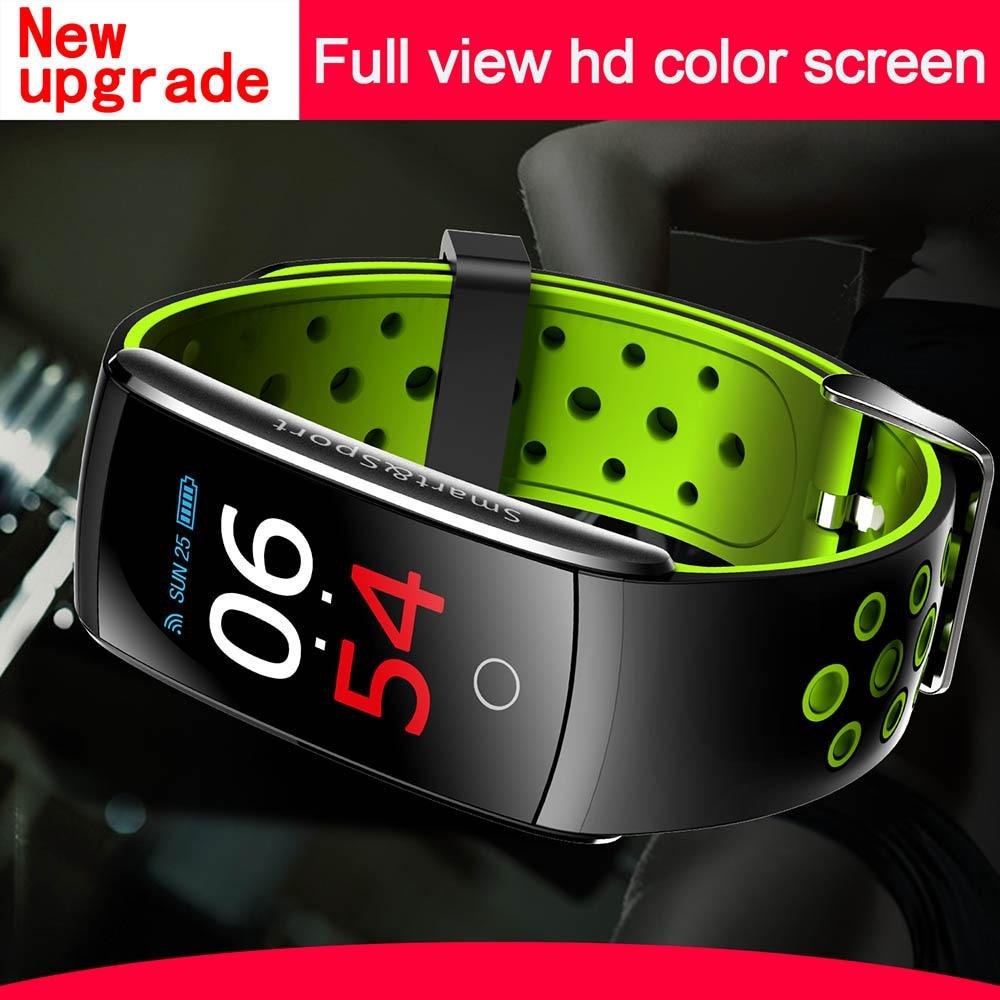 Full View HD Color Screen Smart Wristband Bracelet Dynamic Heart Rate Blood Pressure Oxygen Smart Band for iPhone 5S 5C 5 4S 4 автомобиль iphone 6 plus iphone 6 iphone 5s iphone 5 iphone 5c универсальный iphone 4 4s мобильный телефон iphone 3g 3gs держатель