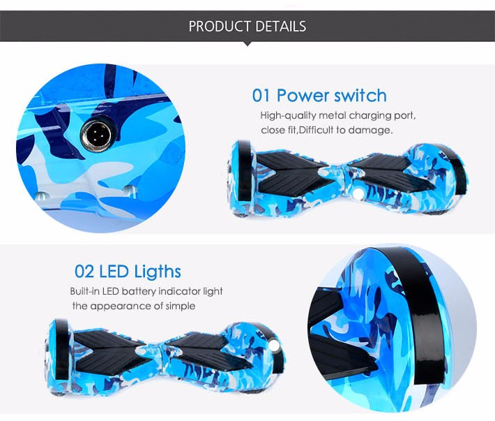 Self balancing Hoverboard or two wheels skateboards with Bluetooth and LED light for Adults 17