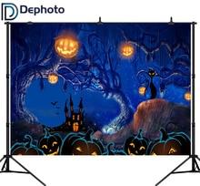 DePhoto 写真撮影の背景漫画のハロウィン背景背景城写真の背景ハロウィンカボチャ背景