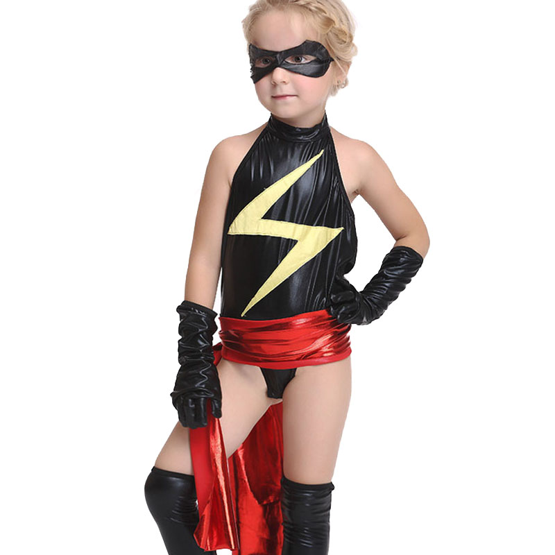 Halloween Girl Costume Kids Masked Superman Masked Rider (Goggles+Gloves+Belt+Feet+Jumpsuits) Costumes Carnival Party Cosplay