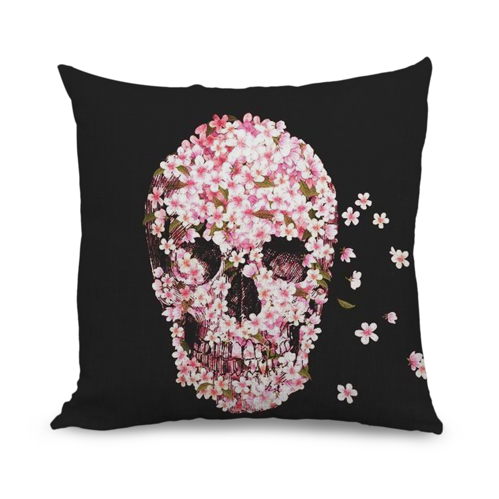 Aliexpress Buy 45x45cm Pink Flower Cushion Cover Black