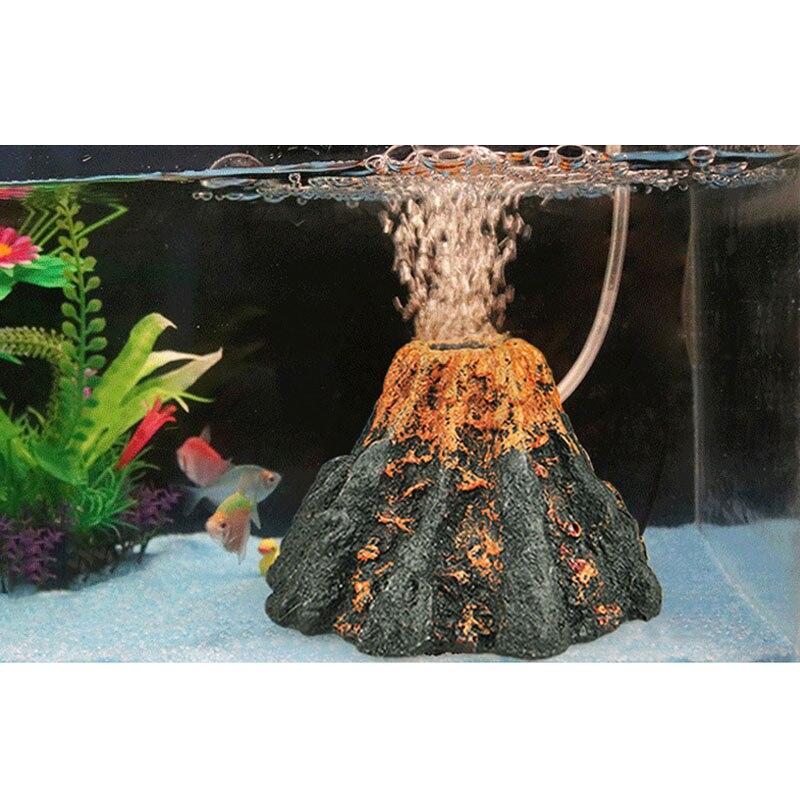 2018 Unieke Kunstmatige Vulkaan Aquarium Luchtbel Decor Fish Tank Landschap Steen Ornament Home Decoraties Consumenten Eerst