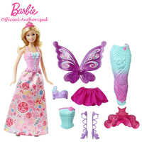 Barbie Original Brand Collection Doll Fairytale Beautiful Baby Toy Dress Up Butterfly Barbie Boneca Mode DHC39