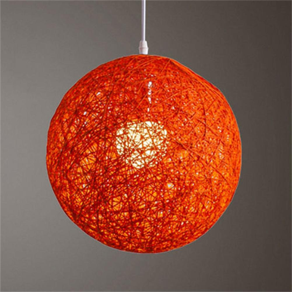 AKDSteel Round Concise Hand-woven Rattan Vine Ball Pendant Lampshade Light Lamp Shades Light Accessories(15cm Diameter)