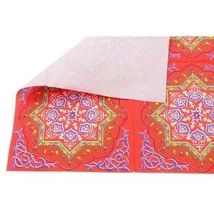 Image 5 - OurWarm Happy Ramadan Table Cloth Paper Napkin Eid Mubarak  Party Decorations Home Islam Ramadan Table Cover Eid Party Supplies