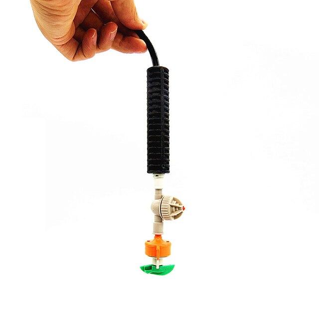 2 systèmes irégation   Buse de pulvérisation rotative et suspendue, marteau lourd, valve Anti-goutte, tuyau en pvc de 2 mètres de 4/7mm