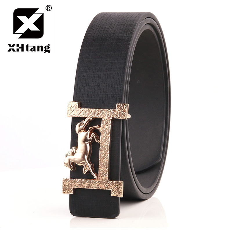 XHTANG Brand H Designer Luxury Brand Belts for Mens PU Faux Leather Male Women Fashion J ...