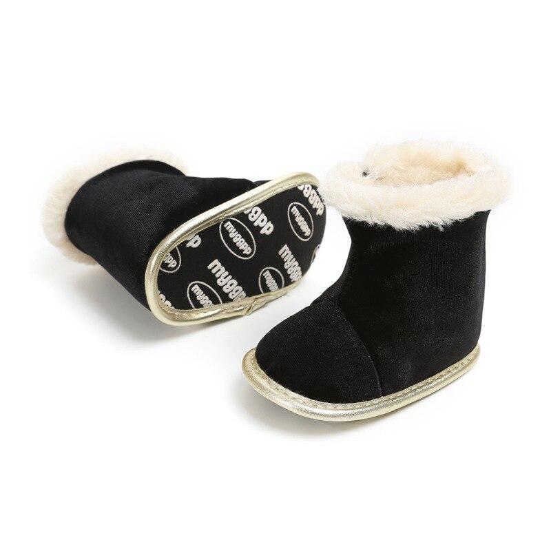 Mutter & Kinder Stiefel Großhandel Baby Mädchen Jungen Pudcoco Schnee Stiefel Einfarbig Rutsch Winter Halb Stiefel Neugeborenen Weichen Boden Winter Schuhe Neue
