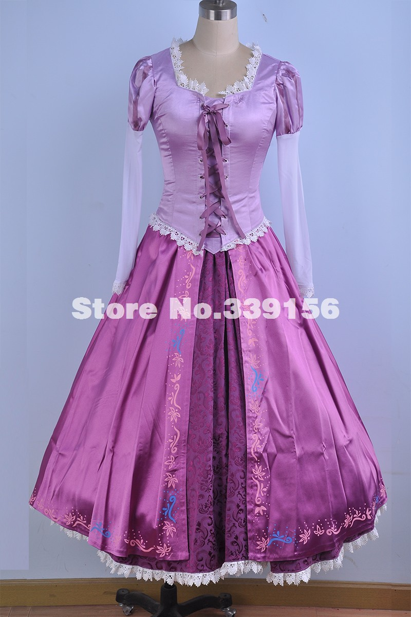 Best Seller Adult Rapunzel Fancy Dress Anime Cosplay Costume Princess Fairytale Tangled Cosplay Dresses Halloween Costumes
