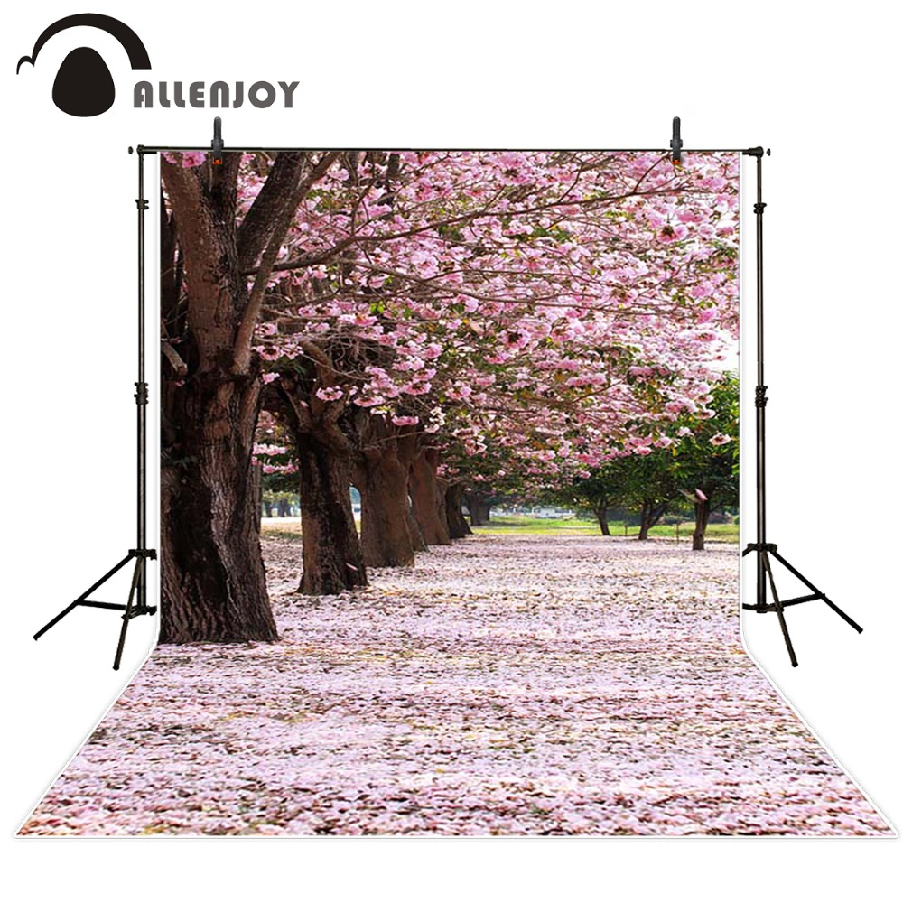 Photography background Cherry blossoms romantic princess Japanese style princess boy send folded fabric Allenjoy backdrops