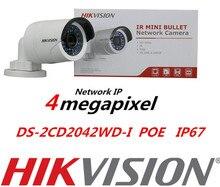 DHL FreeShipping 4 ШТ. DS-2CD2042WD-I 4MP POE Пуля ИК Ip-камера WDR Сетевая Система Видеонаблюдения Hikvision IPC