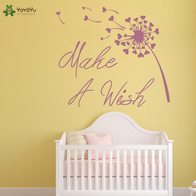 yoyoyu wall decal inspirational quote make a wish vinyl wall sticker