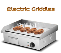 Electric Grill Pan 3000W Commercial Frying Machine Meat Grilling Pan Non Stick Cooking Surface